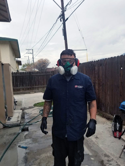 Plumbing in Azusa. Safety first.